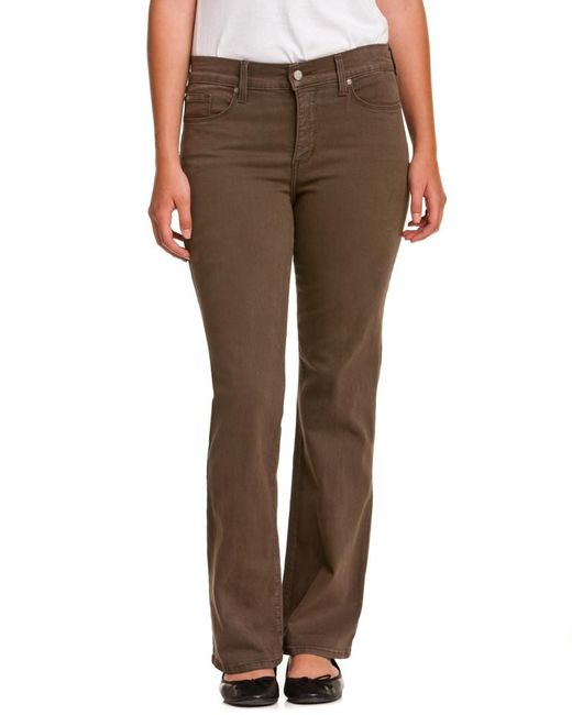"""NYDJ Brown Not Your Daughter's Jeans Petite """"sarah"""" Earth Green Bootcut"""