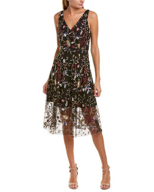 Vince Camuto Black Midi Dress