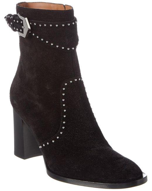 Givenchy Black Elegant Studded Suede Ankle Boot
