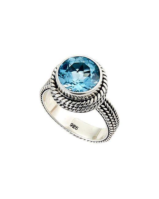 Samuel B. Silver 5.75 Ct. Tw. Blue Topaz Ring