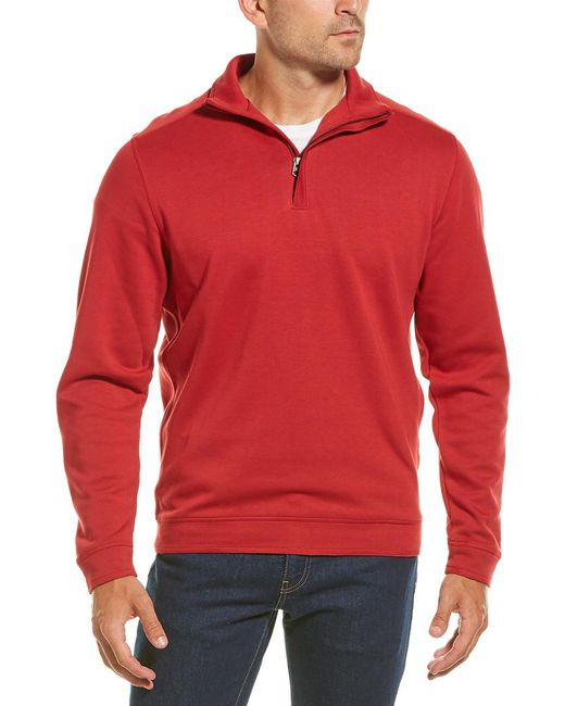 Cutter & Buck Red Decatur 1/2-zip for men