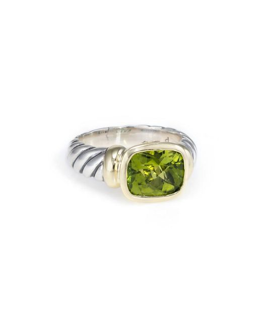David Yurman - Metallic David Yurman Cable 14k & Silver 2.25 Ct. Tw. Peridot Ring - Lyst