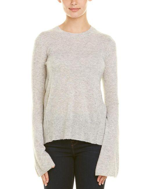 Autumn Cashmere Gray Cashmere & Silk-blend Sweater