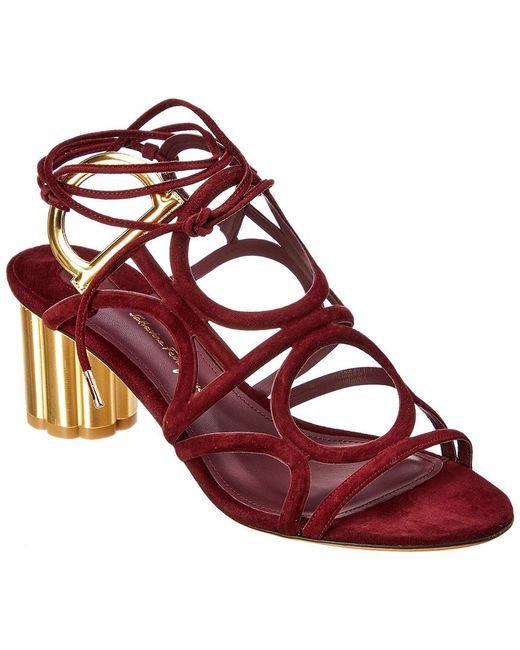 Ferragamo - Purple Vinci Suede Sandal - Lyst