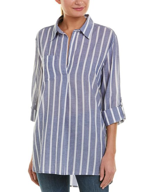 Etienne Marcel Blue Collared Tunic