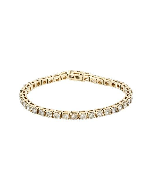 Diana M Metallic 14k 9.75 Ct. Tw. Diamond Tennis Bracelet