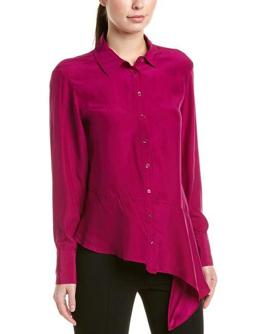 Nanette Lepore Red Silk Blouse