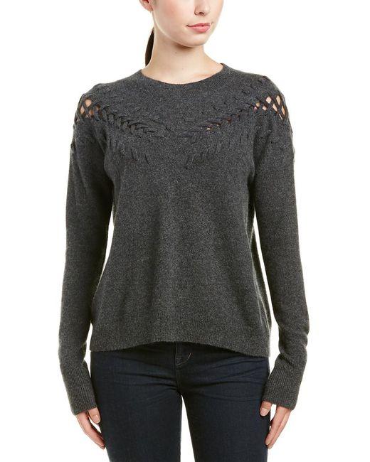 White + Warren   Gray Cashmere Sweater   Lyst
