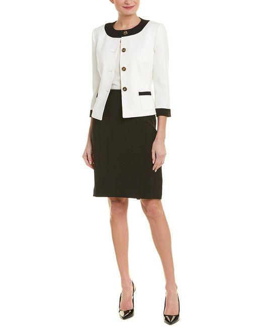 Tahari Black Tahari Asl 2pc Skirt Suit
