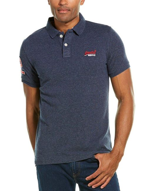 Superdry Blue Classic Polo Shirt for men