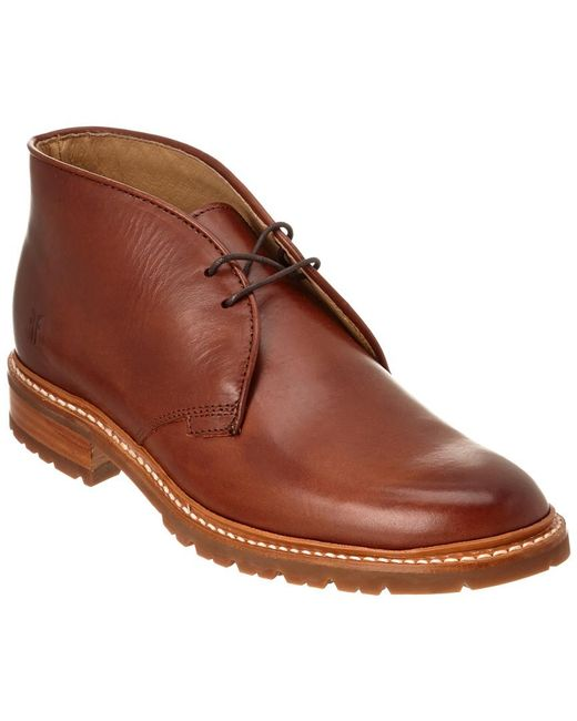 Frye - Brown James Lugg Leather Chukka Boot for Men - Lyst