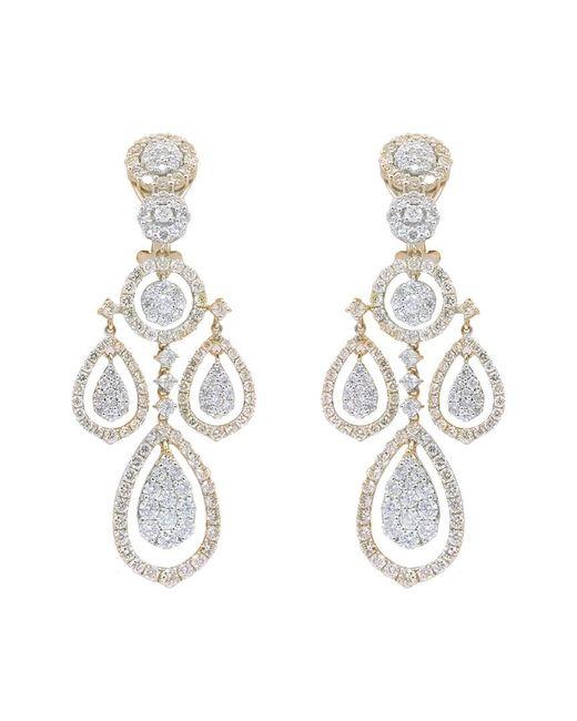 Diana M Metallic . Fine Jewelry 18k Two-tone 7.80 Ct. Tw. Diamond Chandelier Earrings