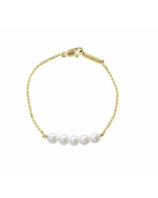 Karapetyan | Metallic Jose Yellow Gold And Pearl Bracelet | Lyst