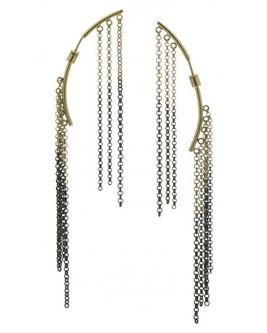Caterina Zangrando | Metallic Two Tone Lily Earrings | Lyst