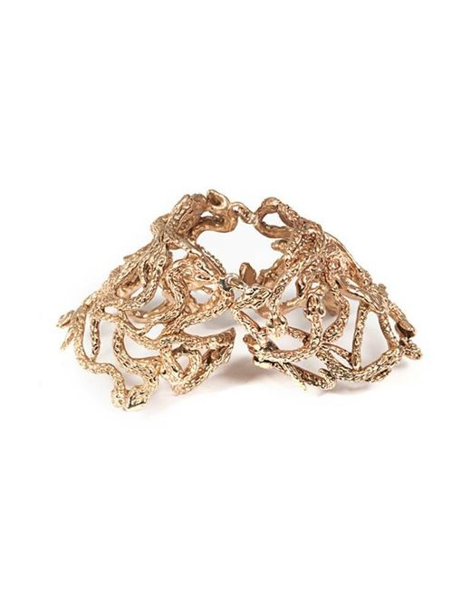 Bernard Delettrez | Metallic Snakes Articulated Bronze Ring | Lyst
