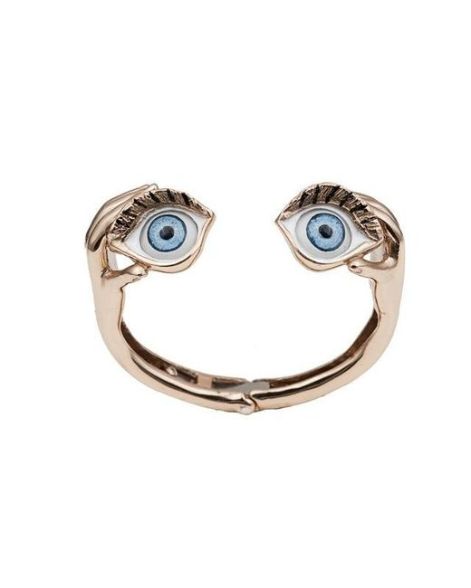Bernard Delettrez | Metallic Blue Eyes Gold Cuff | Lyst