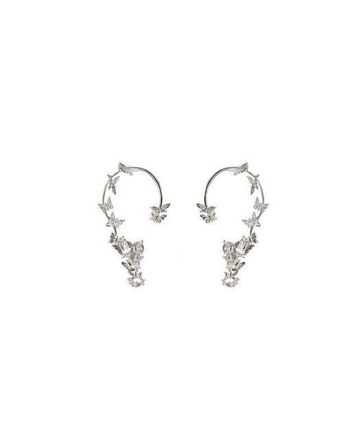 Bernard Delettrez | Metallic Butterflies Silver Ear Cuffs | Lyst