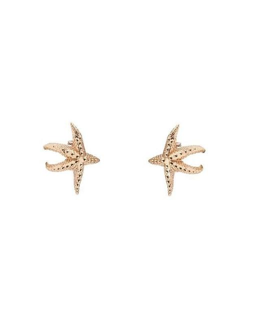 Bernard Delettrez | Metallic Sea Star Gold Tone Earrings | Lyst