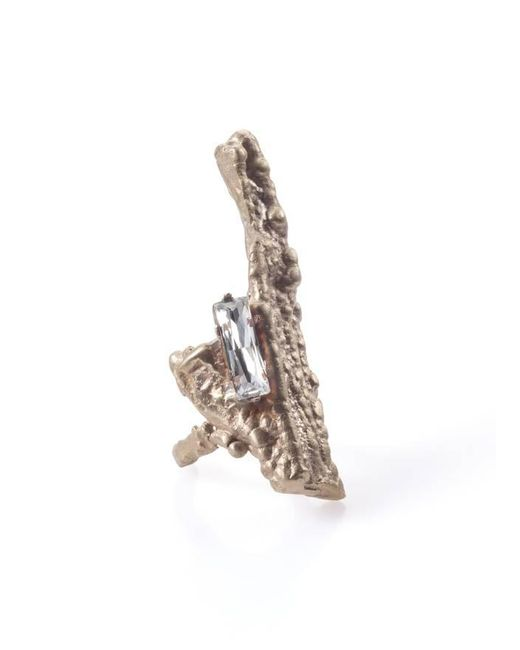 Noritamy | Pink Bagana Rose Gold Ring With Crystal | Lyst