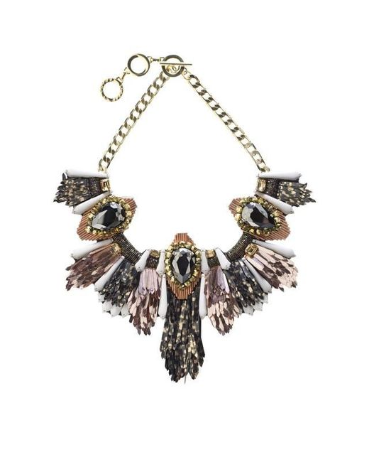 Forest Of Chintz | Black Disco Jungle Pink Bronze Fringe Necklace | Lyst