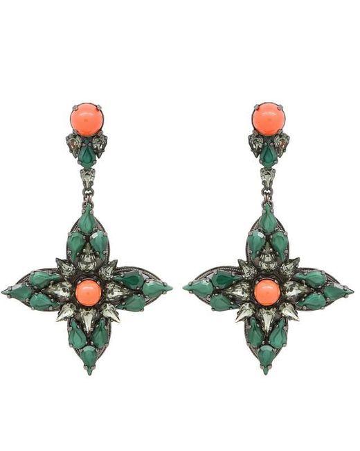 Ellen Conde | Green Joline Drop Earrings | Lyst