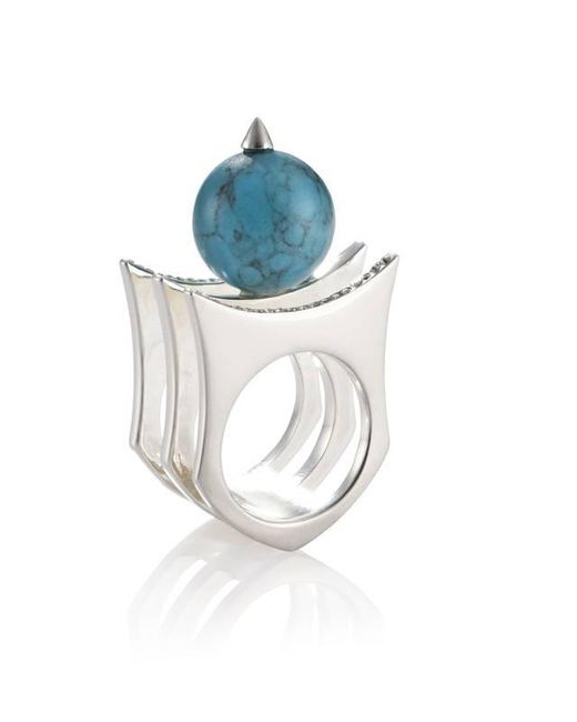 Yael Salomon | Metallic Greta 01 Silver And Turquoise Ring | Lyst