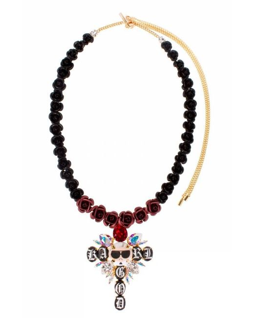 Bijoux De Famille | Multicolor Karl Is God Rosary Necklace | Lyst