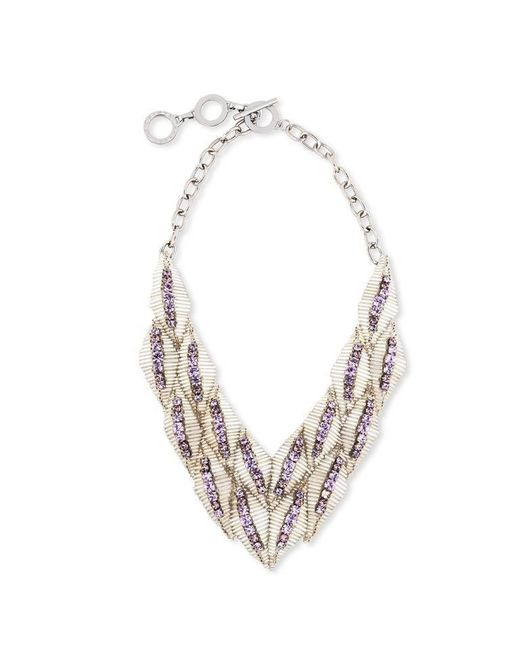 Forest Of Chintz | White Waterfall Necklace | Lyst