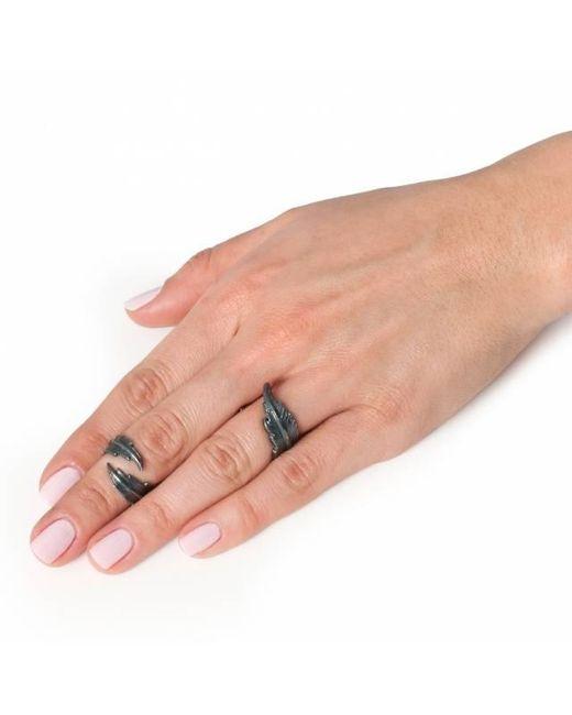 Leivan Kash - Black Feather Open Ring - Lyst