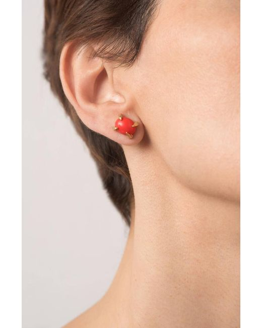 Hissia | Pink Sira Coral Stud Earrings | Lyst