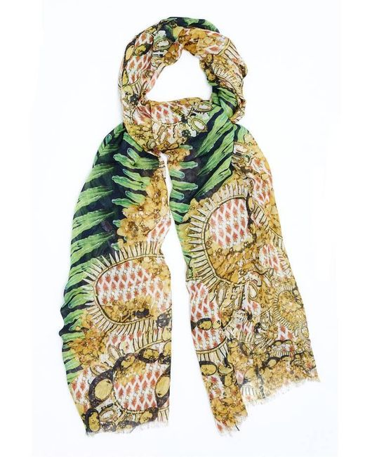 Kekkai | Multicolor Flower Patch Bling Cashmere Blend Scarf | Lyst