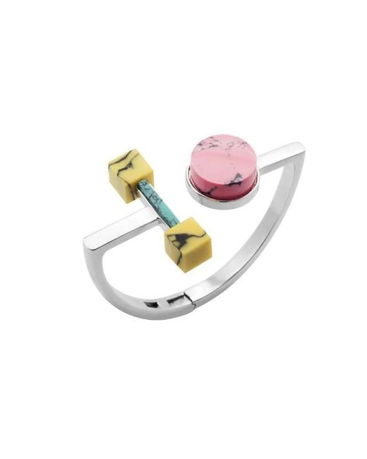 Eshvi | Multicolor Back To School Marble Open Circle Bracelet | Lyst