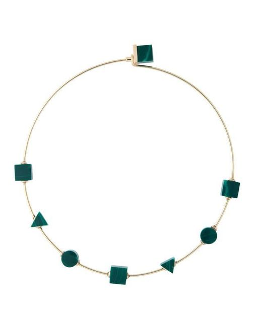 Eshvi | Back To School Malachite Green Choker Necklace | Lyst