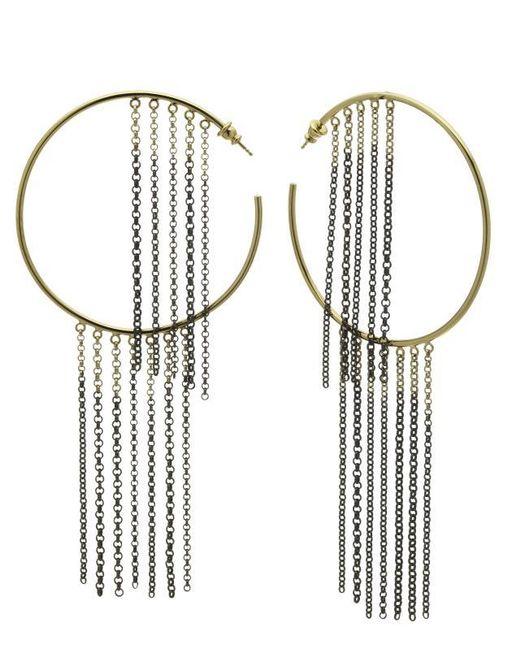 Caterina Zangrando | Metallic Gold And Ruthenium Nettle Earrings | Lyst