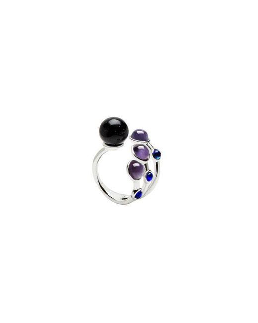 Eshvi | Multicolor Astro 6c White Rhodium Blue Cabochon Ring | Lyst