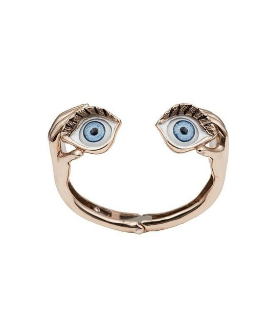 Bernard Delettrez | Metallic Blue Eyes Bronze Cuff | Lyst