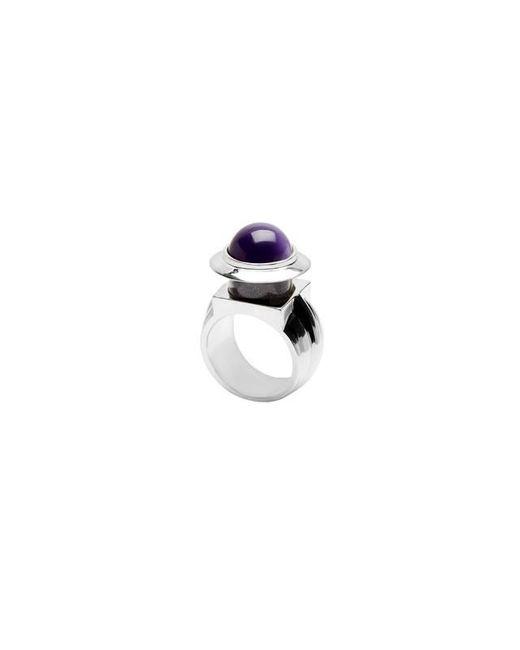 Eshvi | Metallic Astro 2c White Rhodium Blue Cabochon Ring | Lyst
