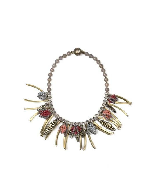 Tataborello   Metallic Summer Place Tassel Charm Necklace 21   Lyst