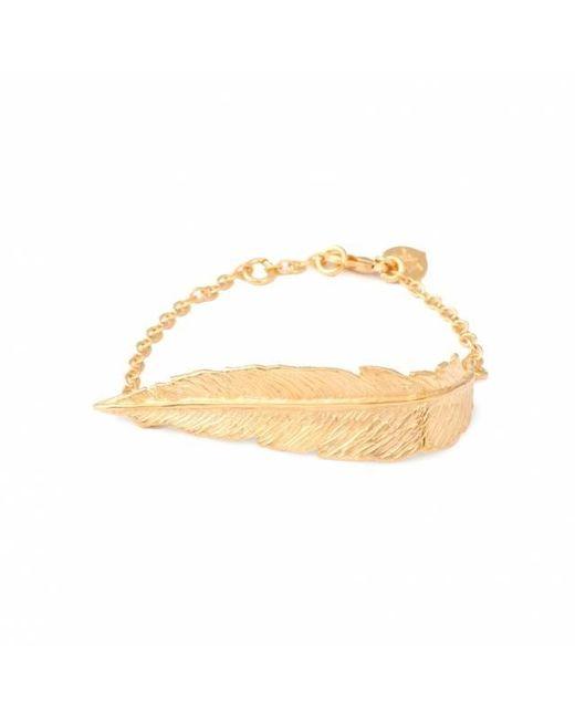 Leivan Kash | Purple Feather Chain Bracelet | Lyst