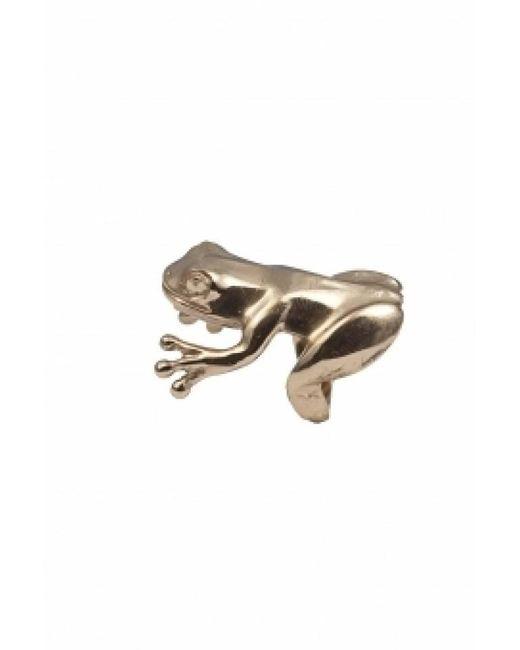 Bernard Delettrez | Metallic Bronze Angular Frog Ring | Lyst
