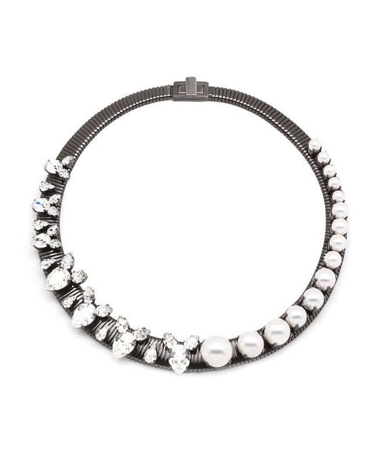 Ellen Conde | White Lucy Classic Necklace | Lyst