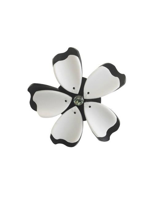 Forest Of Chintz | Green Black And White Flower Brooch | Lyst