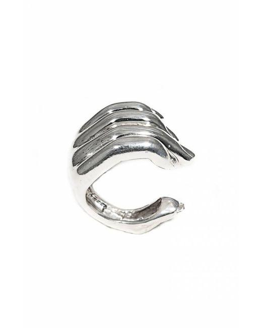 Bernard Delettrez | Metallic Open Hand Silver Ring | Lyst