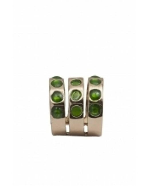 Bernard Delettrez | Multicolor Triple Band Bronze Ring With Green Dots | Lyst