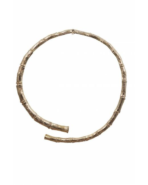 Bernard Delettrez   Metallic Brass Bamboo Necklace   Lyst