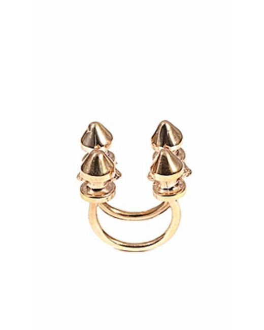 Bernard Delettrez - Metallic Four Stud Bronze Ring - Lyst