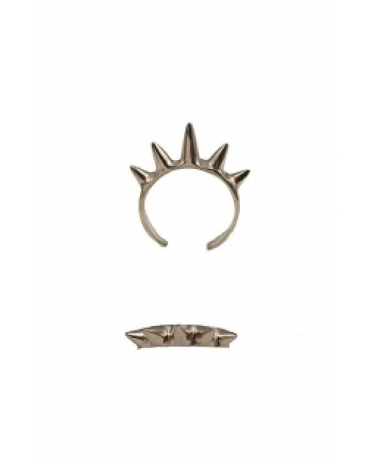 Bernard Delettrez | Metallic Single Band Gold Plated Bronze Ring With Spikes | Lyst