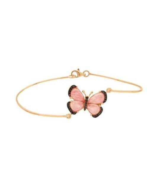 Christina Debs   Black Butterfly Gold And Diamond Bracelet   Lyst