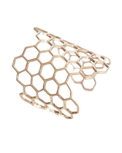 Bernard Delettrez | Metallic Honeycomb Cuff | Lyst