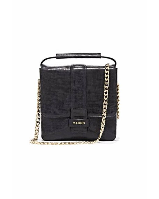 Mahon | Magia Glossy Black Top Handle Bag | Lyst